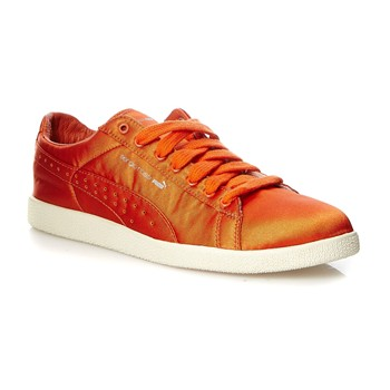 Clyde - Baskets en satin - orange