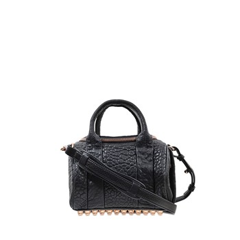 Alexander Wang - Mini Rockie - Sac doctor bag en cuir - noir