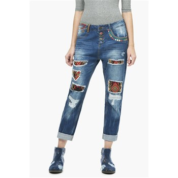 Pantalon - denim bleu