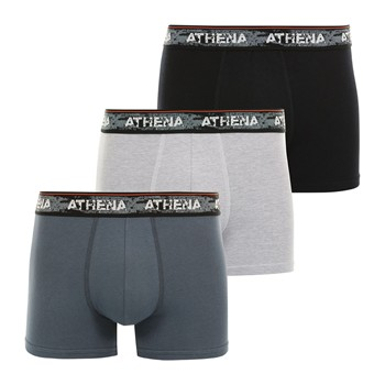 Athena - Authentic - Lot de 3 boxers - multicolore - 2185358
