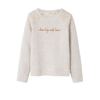 Mango Kids - Sweat-shirt - beige - 2181360