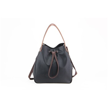 Basic - Shopping bag in pelle - nero