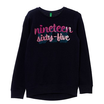 Benetton - Sweat-shirt - bleu marine - 1922828
