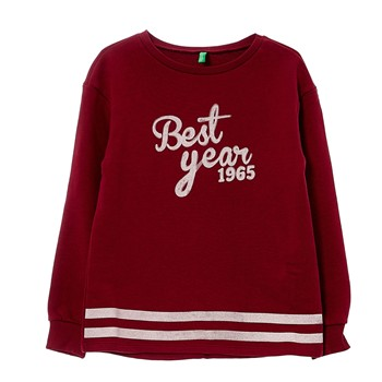 Sweat-shirt imprimé - bordeaux