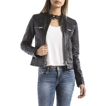 Blue Wellford - Veste en cuir - noir