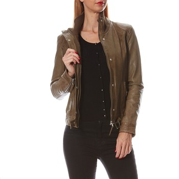 Oakwood - Hollywood - Bikerjacke aus Leder - khaki