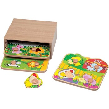 First Learning - 3 puzzles 1er âge - multicolore - 2203899