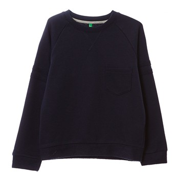 Benetton - Sweat-shirt - bleu - 1922831