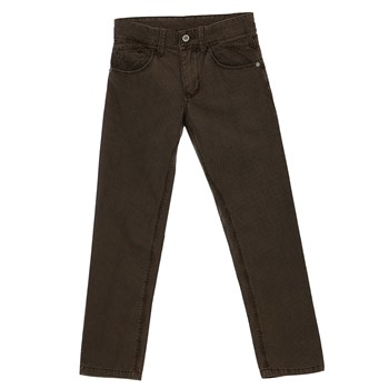 Pantalon en coton - marron clair