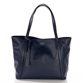Marilou - Shopping bag in pelle - blu scuro
