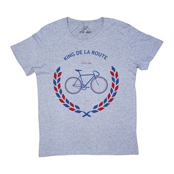 P'tit vélo - King de la route - T-shirt - gris chine - 2231033