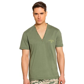 Guess - Essential - Ensemble t-shirt et short - vert - 1654139