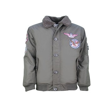 MJ Goose Badge - Bombers - brun