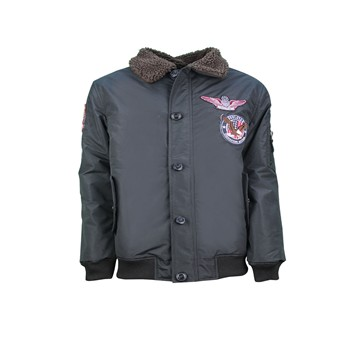 MJ Goose Badge - Bombers - noir