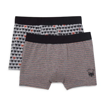 Monoprix Kids - Lot de 2 boxers - anthracite - 2235355