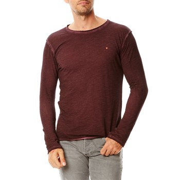 T-shirt manches longues - prune