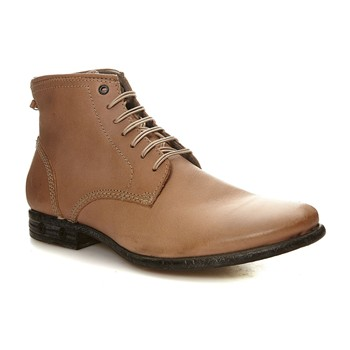 Chron Zip - Derbies montantes en cuir - taupe