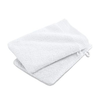 Lot de 2 gants de toilette 600 g/m² - blanc