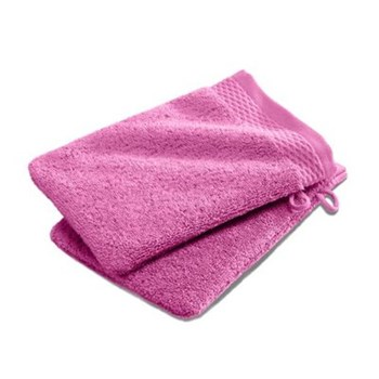 Ifilhome - Lot de 2 gants de toilette 600 g/m² - rose