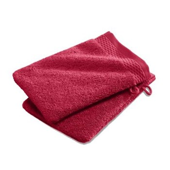 Ifilhome - Lot de 2 gants de toilette 600 g/m² - rouge