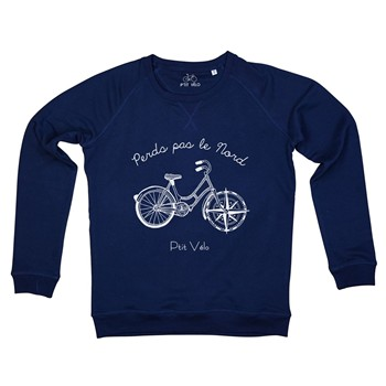 Perds pas le nord - Sweat-shirt - bleu marine