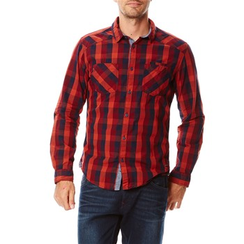 Camicia in misto cotone - bordeaux