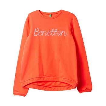 Sweat-shirt imprimé - orange