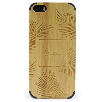 Woodstache - Coque pour iPhone 5-5S et SE Palm - beige - 2253150