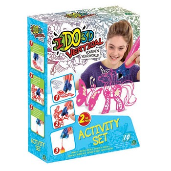 Activity 2 tubes ido 3D - multicolore