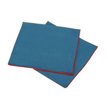 Autour du lin - Lot de 2 serviettes de table en lin - canard