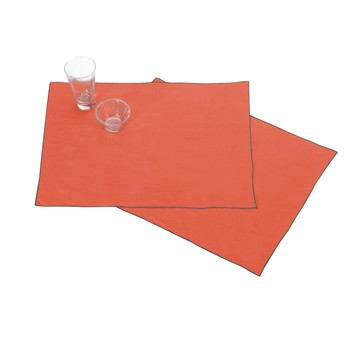 Blanc Cerise - Autour du Lin - Lot de 2 serviettes de table en lin - brique