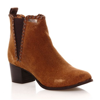 Madelyn - Bottines en cuir suédé - marron