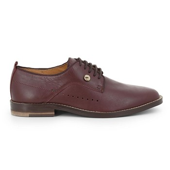 Faguo - Rose - Derbies en cuir - rouge - 2264446