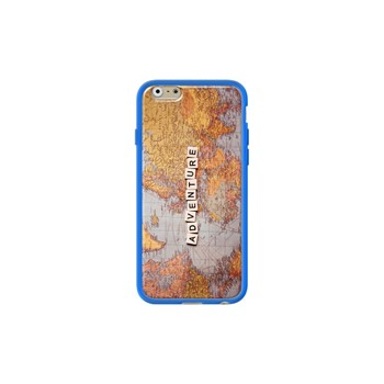 Adventure map - Coque pour iPhone 6/6S - bleu