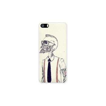 The Gentleman Becomes a Hipster - Coque pour iPhone 5/5S/SE - blanc