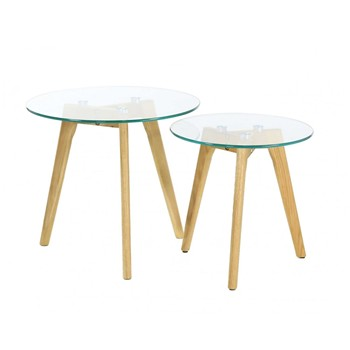 Ethnical Life - Lot de 2 tables gigognes - transparent