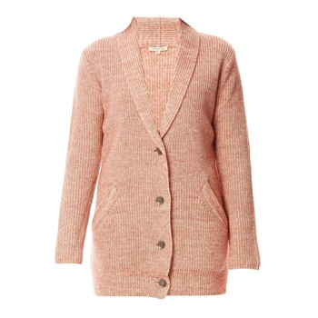 Romy & Ray - Kelly - Gilet long en laine et coton - rose