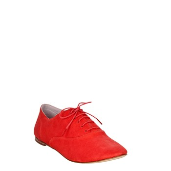 Maria - Derbies en cuir - rouge