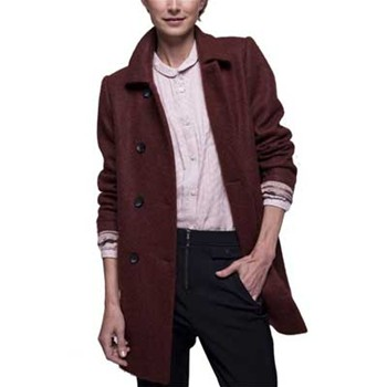 Manteau casual - pourpre