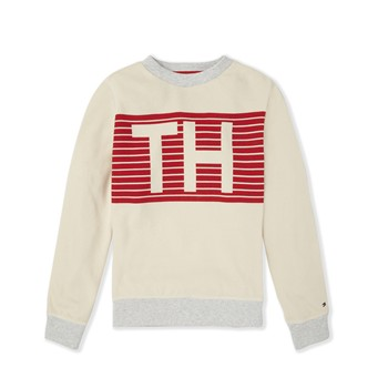 Stripe pique CN - Sweat-shirt