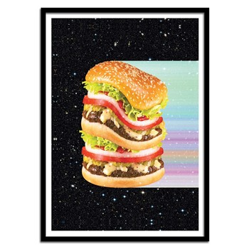 Wall Editions - Big Burger - Affiche d'art - multicolore