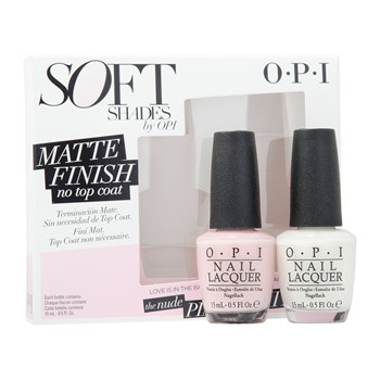 SOFT SHADES MATT PINK + WHITE - Coffret vernis à ongles - 15 ml