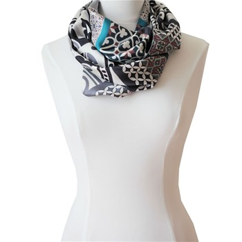 Snood en soie - multicolore