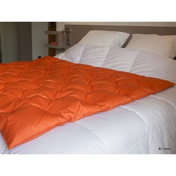 Tendance déco - Édredon plaid 220 g/m² - orange