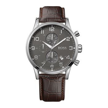 Boss - Montre en cuir - marron