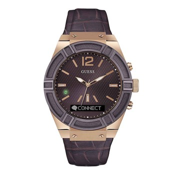 Guess Connect - Montre en cuir - marron