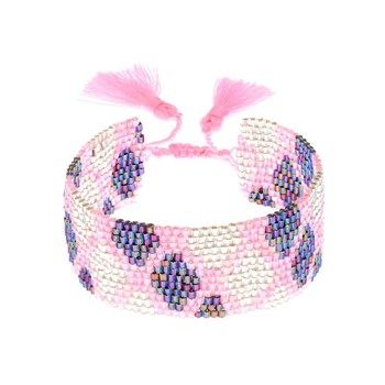 Indian Summer - Bracelet fait main - rose