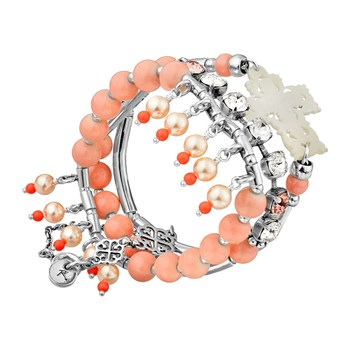 Talisman - Lot de 3 bracelets - rose