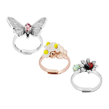 Reminiscence - Butterfly - Lote de 3 anillos - multicolor