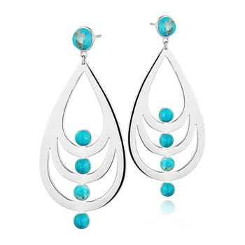 Reminiscence - Graphic Turquoise - Orecchini - bicolore